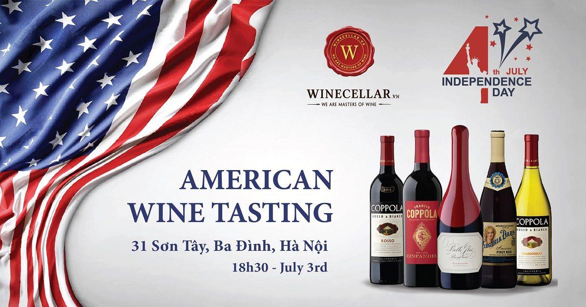 American Wines Tasting by WINECELLAR.vn