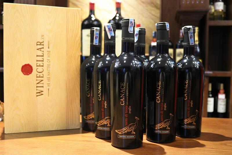 6 chai rượu vang Canace Nero di Troia vintage 2016
