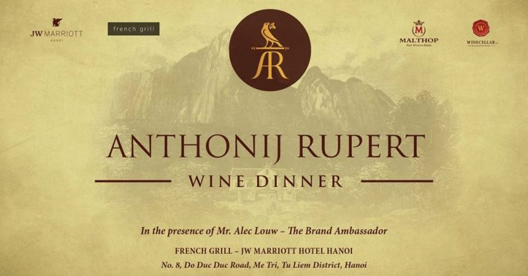 Anthonij Rupert wine dinner