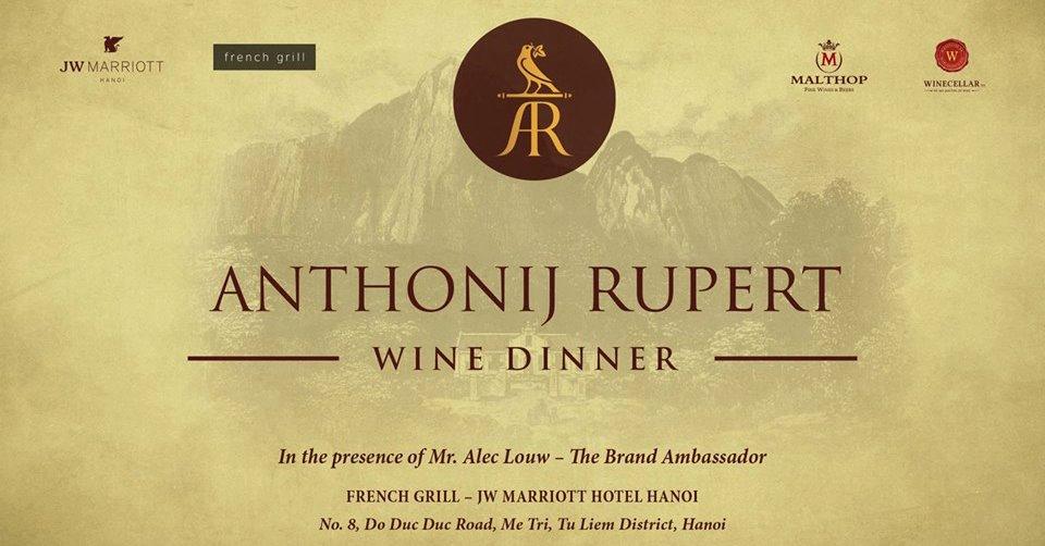 Anthonij Rupert wine dinner