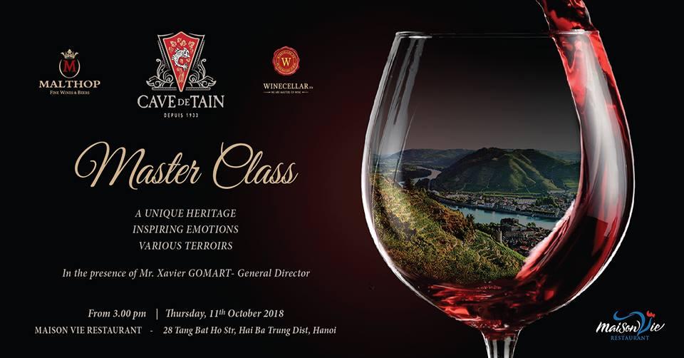 Cave de Tain Master Class Wine Tasting
