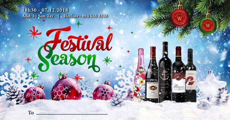Festival Season Wine Tasting