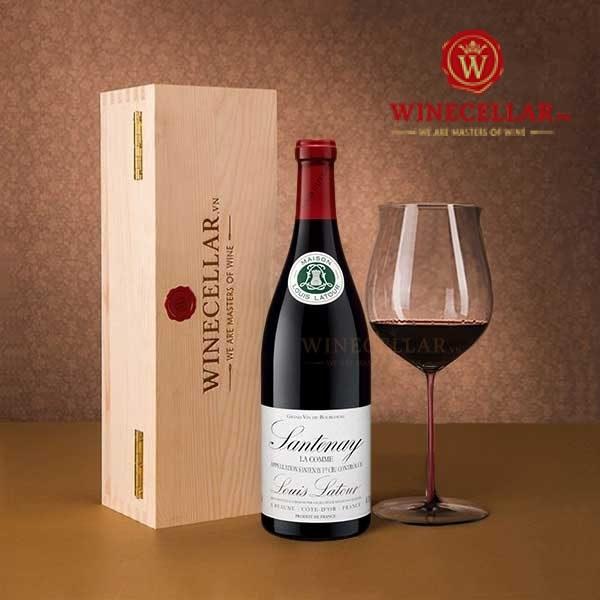 rượu vang Santenay La Comme Louis Latour