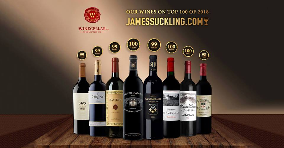 Những chai vang hảo hạng nằm trong top 100 by JamesSuckling có tại WINECELLAR.vn