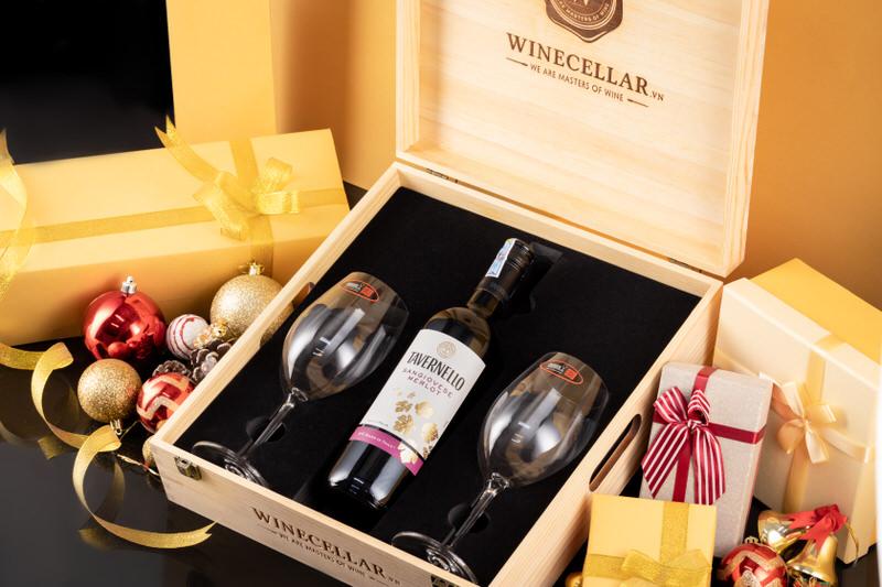Rượu vang đỏ Tavernello Sangiovese Merlot Rubicone IGT