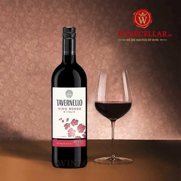 Rượu vang Tavernello Vino Rosso D'italia