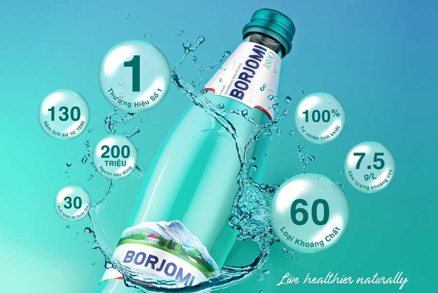 Ảnh 2: Nước khoáng Borjomi - thương hiệu được yêu thích hàng đầu