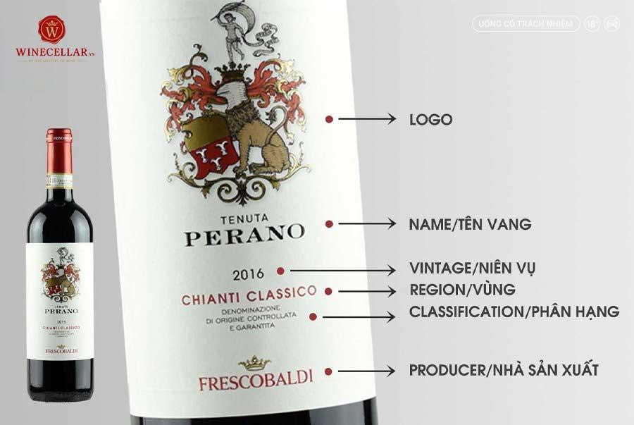 Rượu vang Ý Perano Chianti Classico