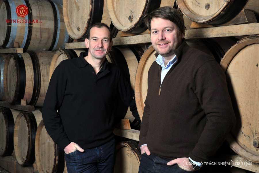 Ảnh 1: Nicolas Jaboulet cùng nhà sáng lập Maison & Domaine Alexandrins