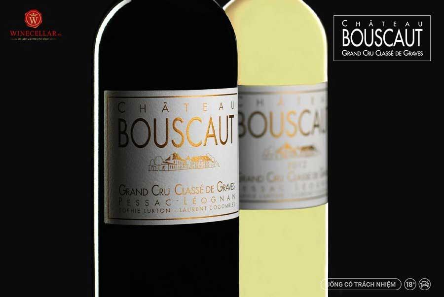 Ảnh 1: Nhãn chai rượu vang Chateau Bouscaut