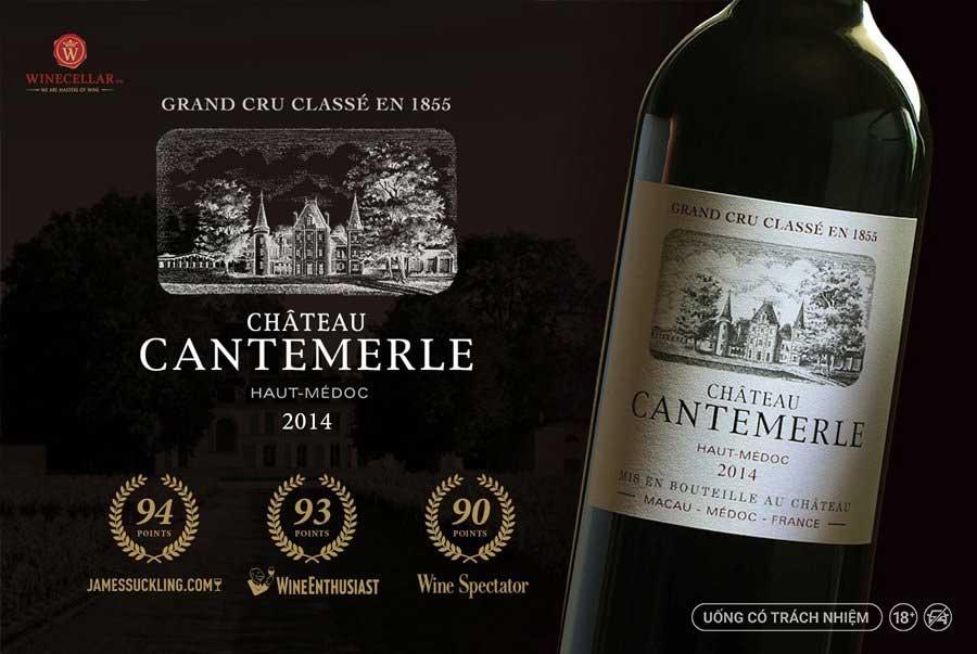 Rượu vang Chateau Cantemerle đẳng cấp Grand Cru Classe 1855