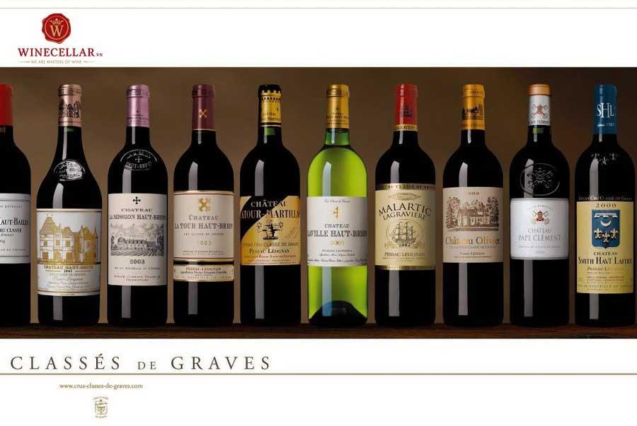 Ảnh 2: Những chai rượu vang Pessac-Leognan đẳng cấp Grand Cru Classe