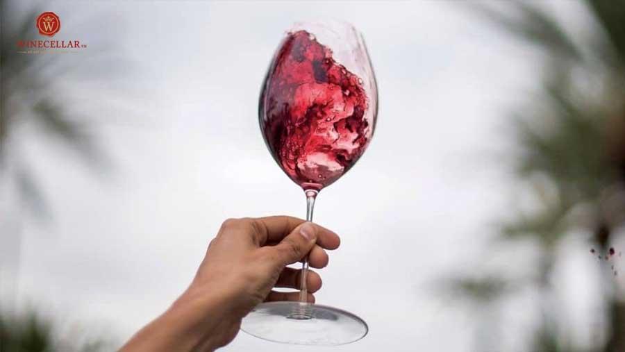Ảnh 1: Lắc rượu vang giúp phát triển các hương vị trở nên tuyệt vời hơn