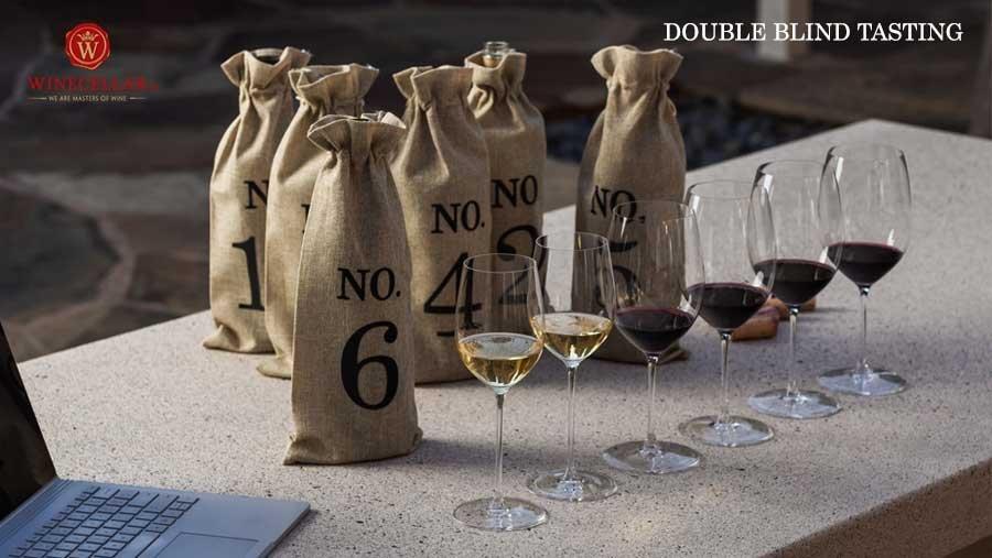 kiểu nếm thử rượu Double blind tasting