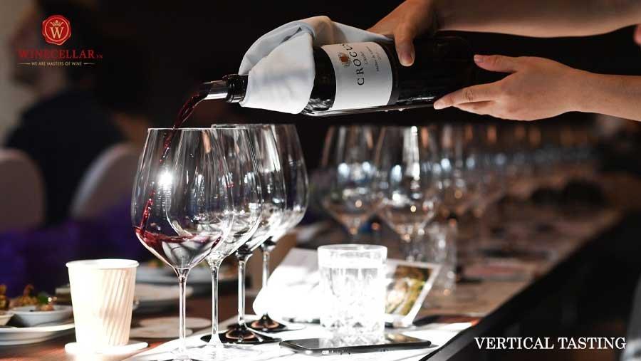 kiểu nếm thử rượu Vertical tasting