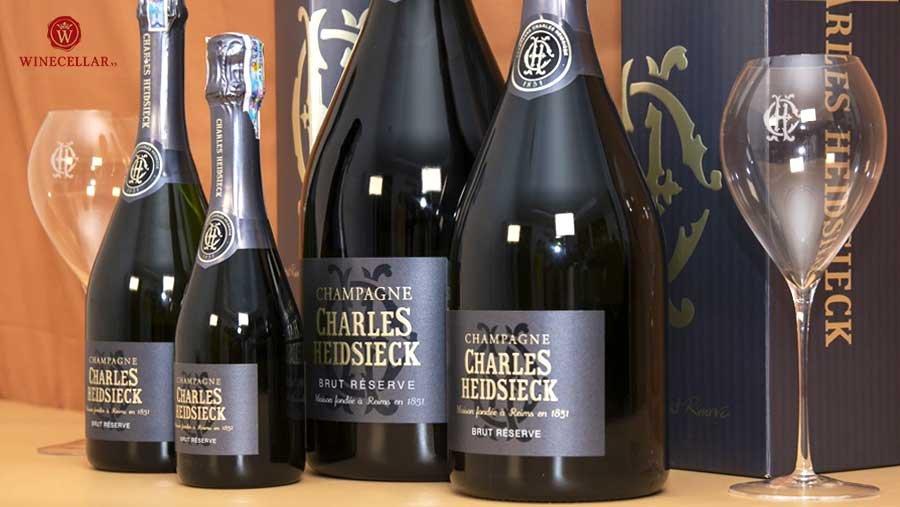 Bộ sưu tập rượu Champagne Charles Heidseick