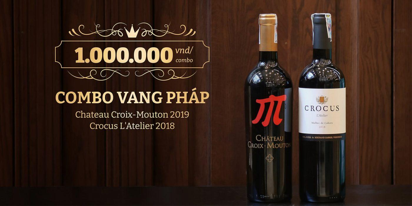 Bộ đôi quà tặng rượu vang Pháp phong cách