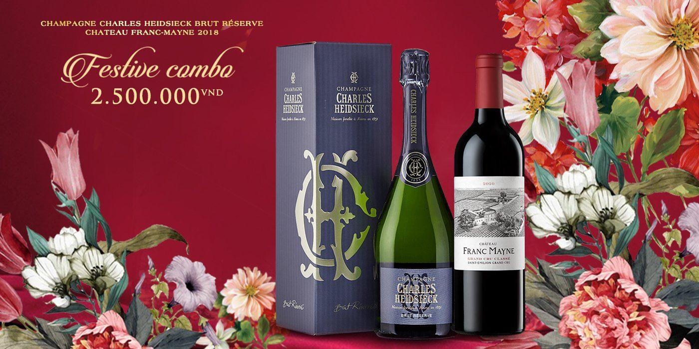 Bộ đôi quà tặng rượu vang Pháp đẳng cấp